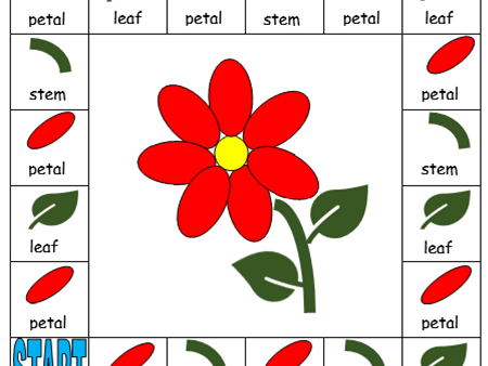 EYFS Parts of a Flower board game
