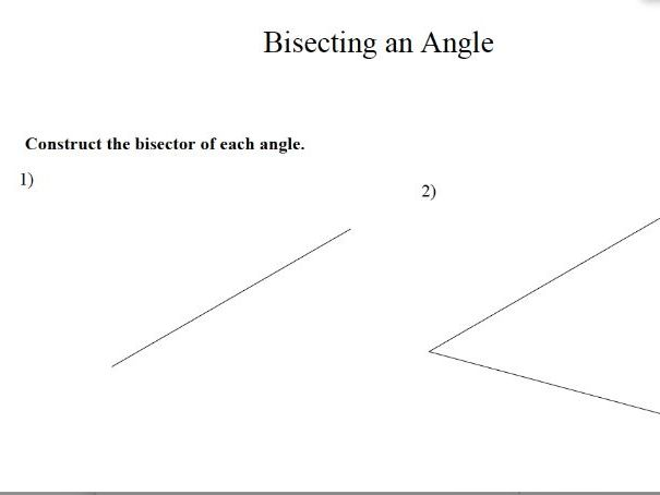 GCSE Maths Revision Bisecting an Angle