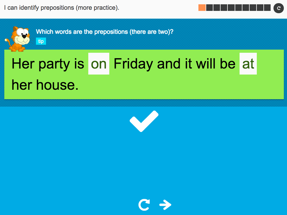 I can identify prepositions (more practice) - Interactive Activity - Year 3 Spag