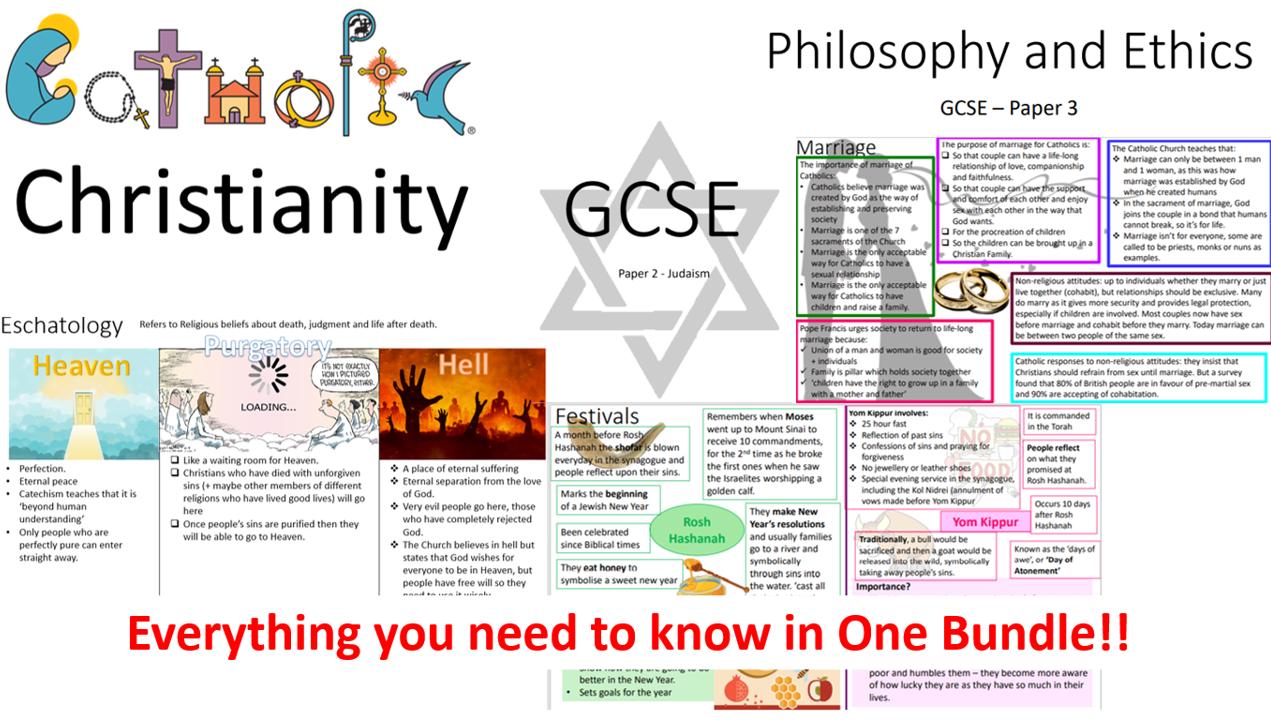 Religious Studies Edexcel GCSE Spec A: Complete Set of Revision Notes for a 9