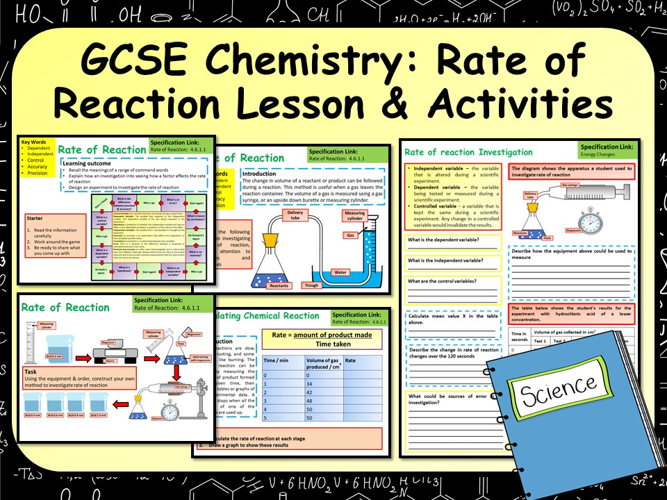KS4 AQA GCSE Chemistry (Science) Rate of Reaction Lesson & Activities