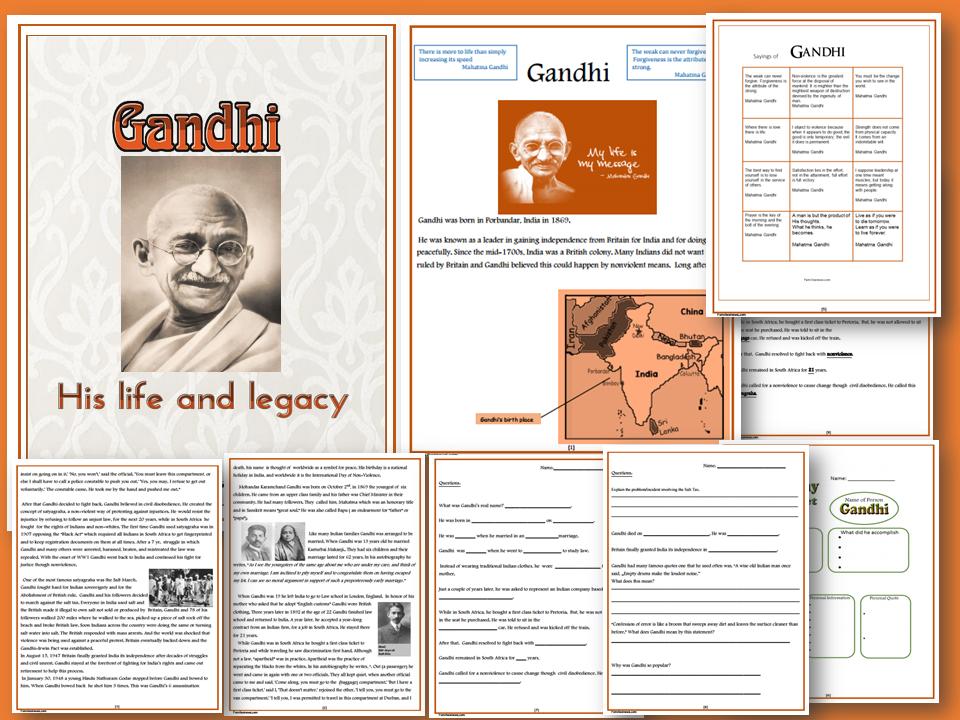 the life and beliefs of mahatma gandhi