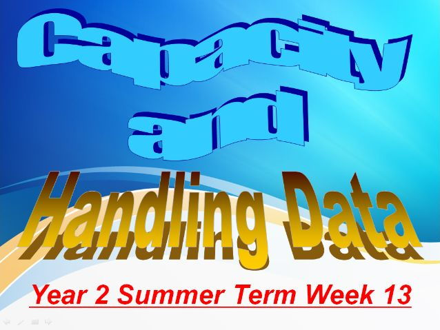 Year 2 Summer Term Week 13 Handling Data and Capacity