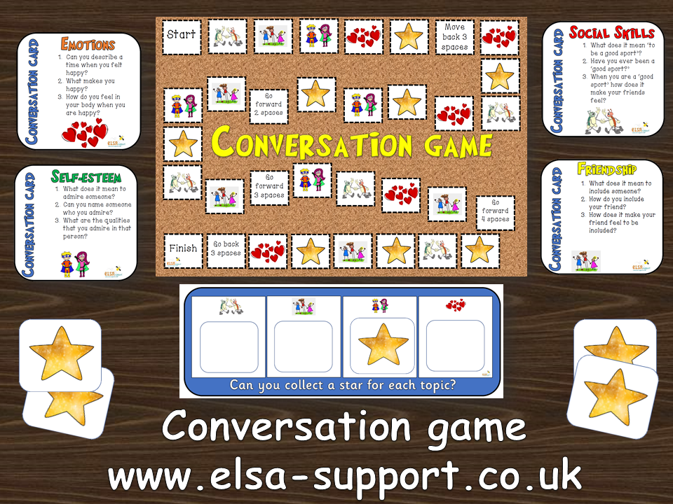 Social Skills Conversation Game -  Friendship, Self-esteem and Emotions