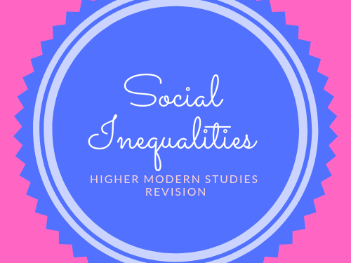 SQA Higher Modern Studies Social Inequality Revision Booklet