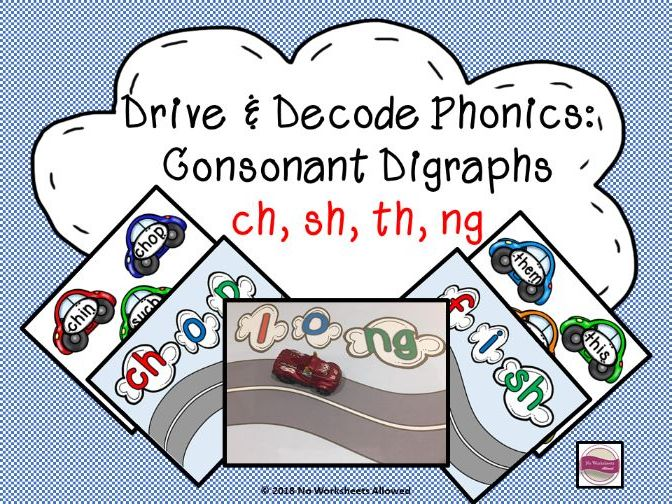 Phase 3 Phonics Blending Game - Consonant Digraphs