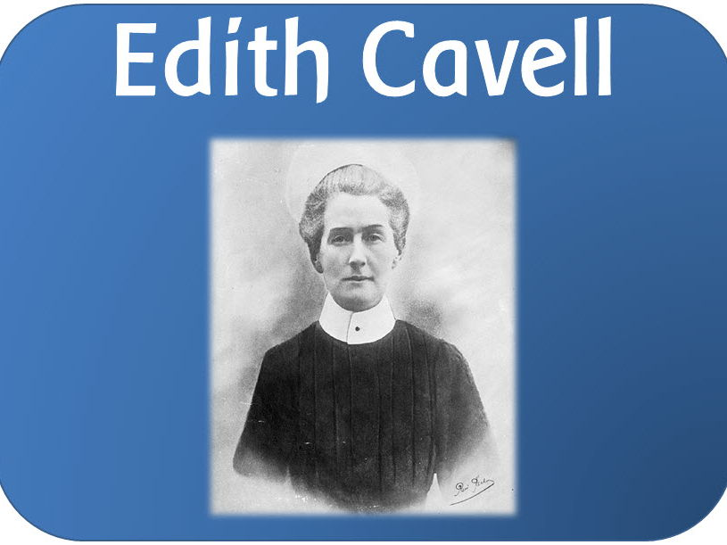 KS1 History: Edith Cavell Powerpoints, worksheets, activities and display pack