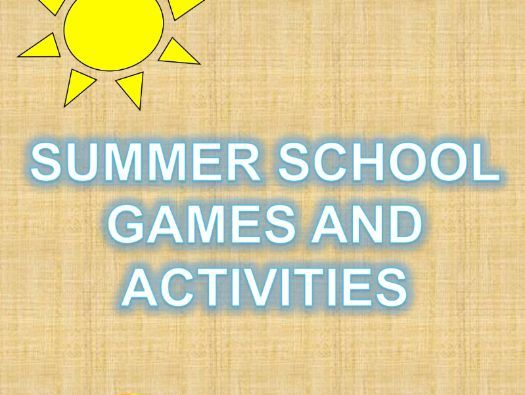 Summer School Games and Activities