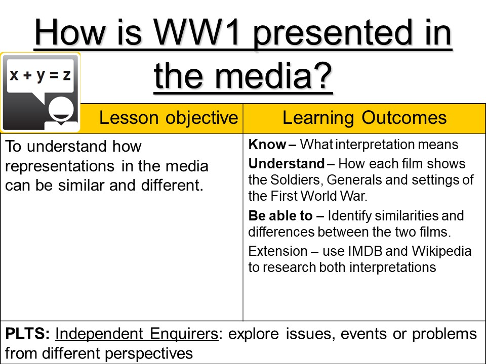 How is WW1 presented in the media? - Gallipoli and Blackadder