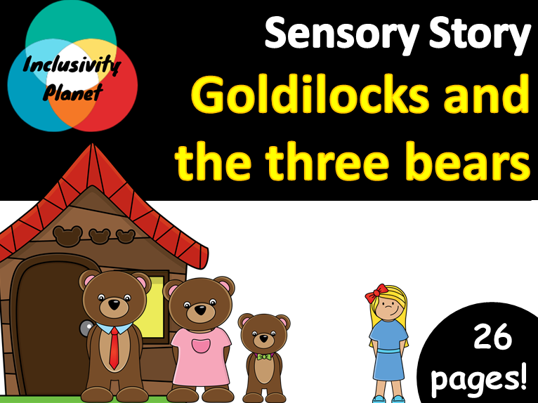 Goldilocks and the Three Bears SENSORY STORY including vocabulary cards and guide
