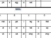 Read Write Inc pupil tracking Set 1.  Ten minutes a week to monitor your whole class.