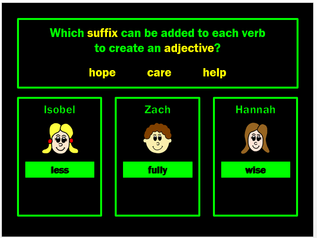 Prefixes and Suffixes PPT Powerpoint Game by Grammatickx