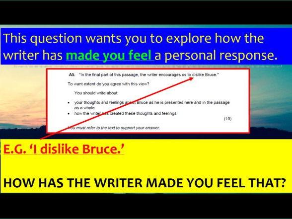 EDUQAS GCSE English Language paper 1 GRADE 9 PowerPoint (104 slides with examiner podcast)