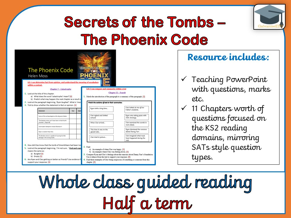 Secrets of the Tombs:  The Phoenix Code - Whole class guided Reading