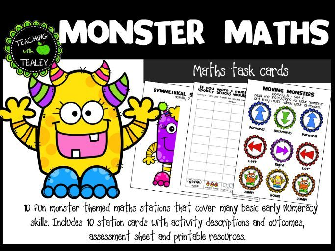 Maths Center Task Cards Early Learning