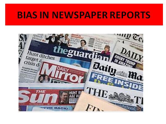 Bias in Newspaper Reports