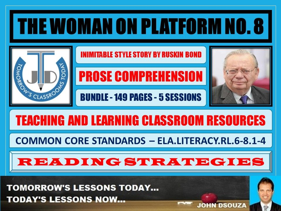 THE WOMAN ON PLATFORM NO 8 - COMPREHENSION CLASSROOM RESOURCES - BUNDLE