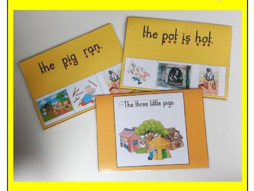 The Three Little Pigs - Phase 2 simple sentence peg board match