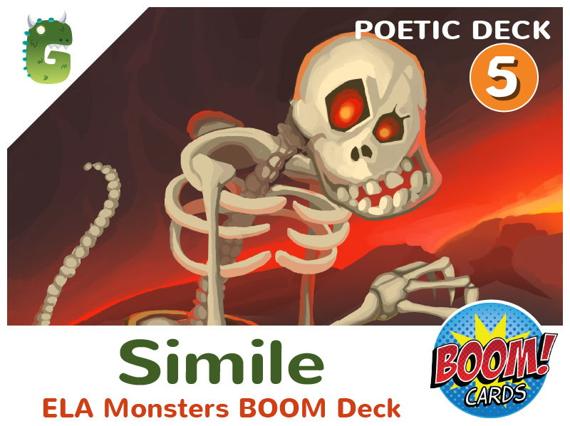Similes Boom Cards (Poetic Language - Deck 5)