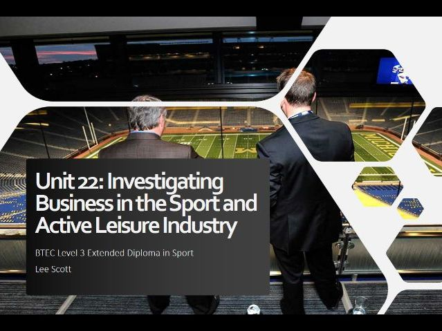 Unit 22 - Investigating business in the sport and active leisure industry
