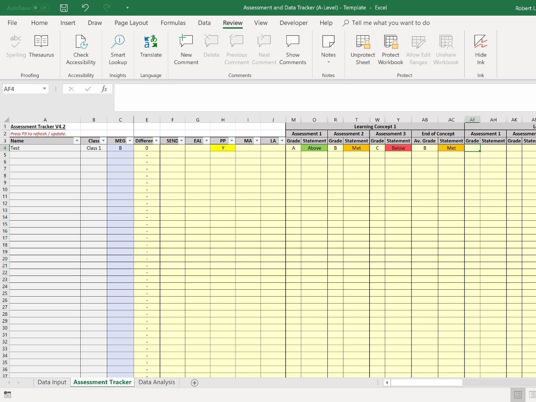 Assessment and Data Tracker/Analysis Spreadsheet - Bundle