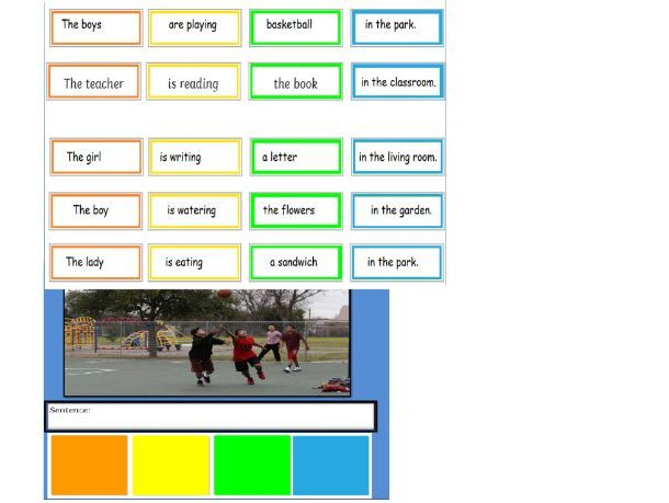 Who, What, Where - Colourful Semantics Cut-Up Sentences Activity for MLD learners