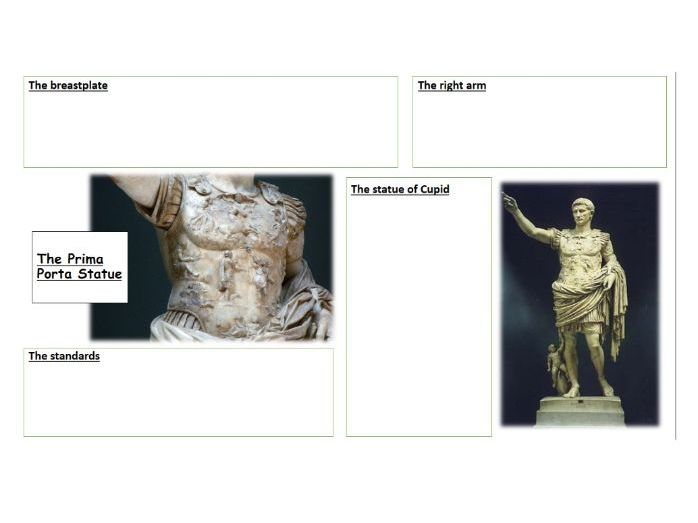 How did Augustus use art to secure his power?: The Prima Porta