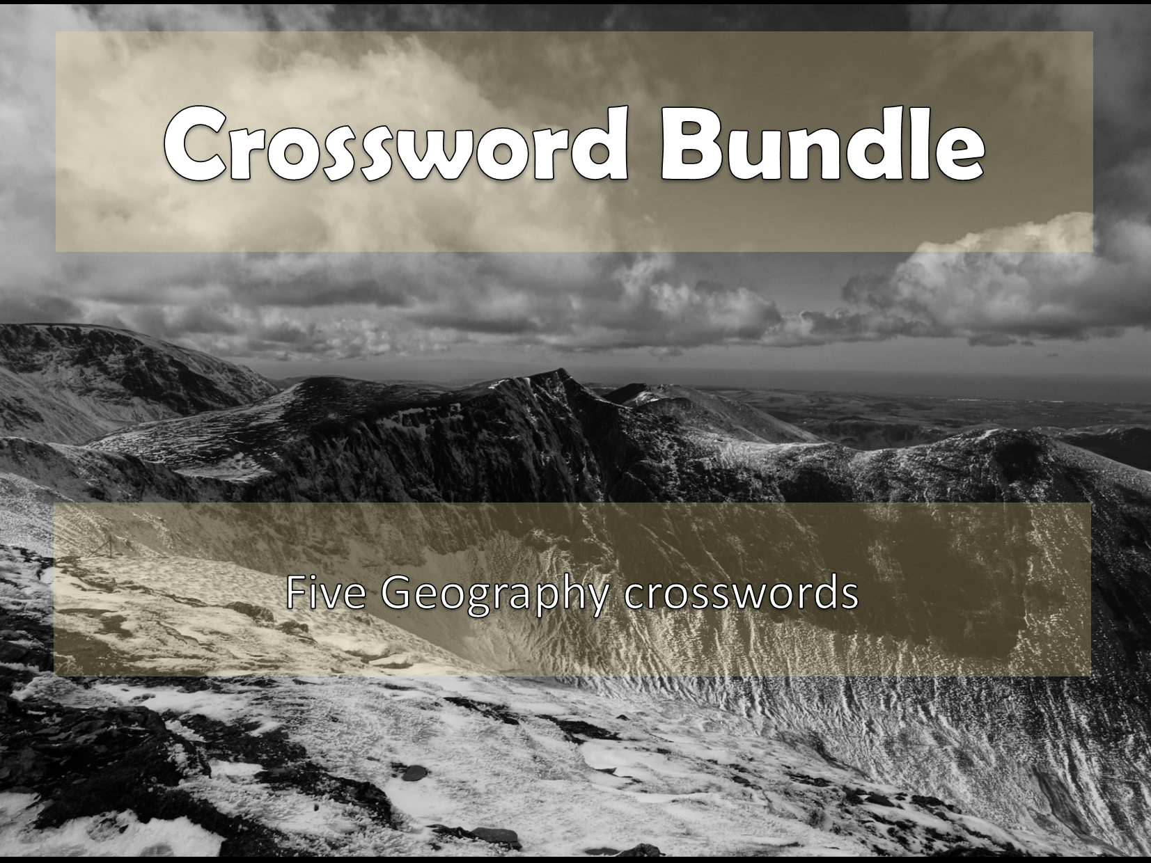 Geography Crosswords Bundle