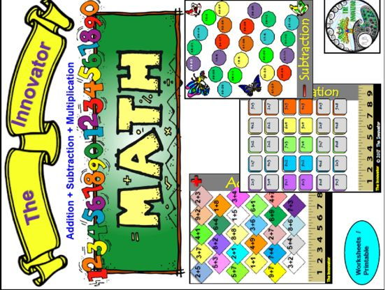 Math Centre : Addition, Subtraction, and Multiplication