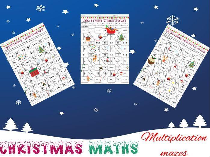 Christmas maths: Multiplication mazes