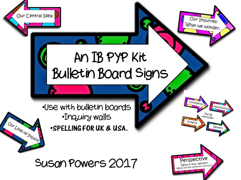A Complete IB PYP Bulletin Board Kit