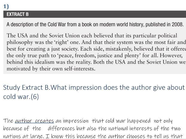 Exam Style Questions History IGCSE Cold War