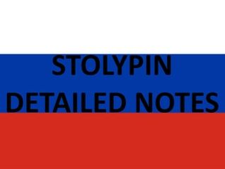 Stolypin Notes