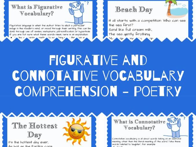 Figurative and Connotative Vocabulary Reading Comprehension - Poetry