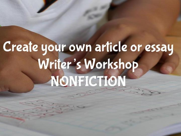 FUN writing prompts - Nonfiction