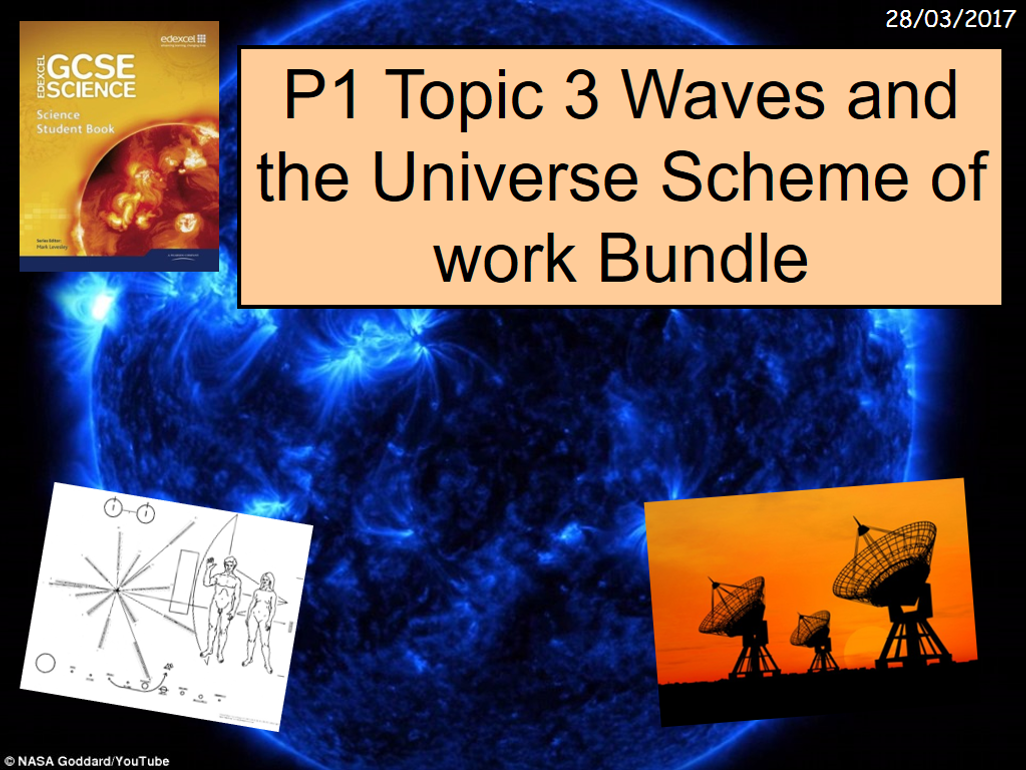 P1 Topic 3 Waves and the Universe Scheme of work Bundle