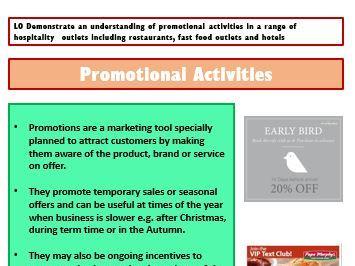 CCEA Hospitality Unit 2 - Marketing