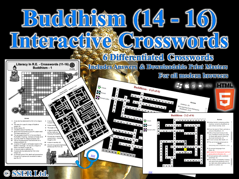 Literacy In Buddhism – Interactive Crosswords (HTML5)