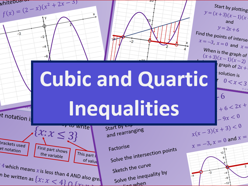 Cubic and Quartic Inequalities - AS level Further Maths