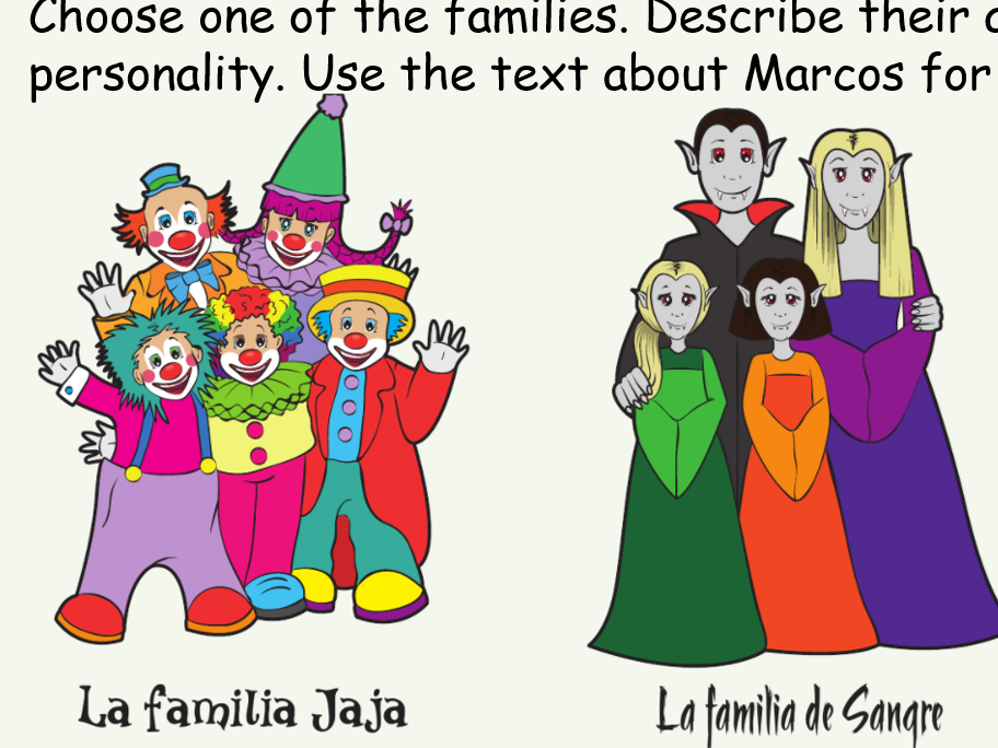 KS3 Spanish Revision Family Appearance Personality Blockbuster game