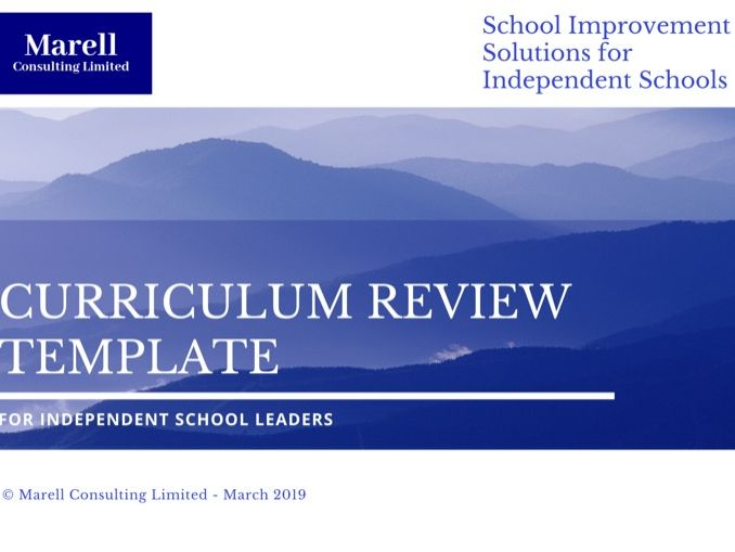 Curriculum Review Template for Senior Leadership Teams