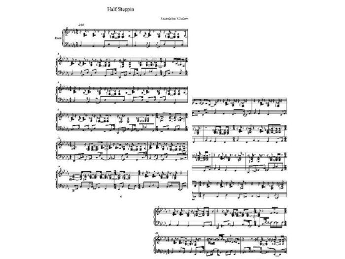Half Steppin Sheet Music