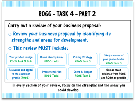 R066 Task 4 Teacher PowerPoint (Cambridge National in Enterprise & Marketing)