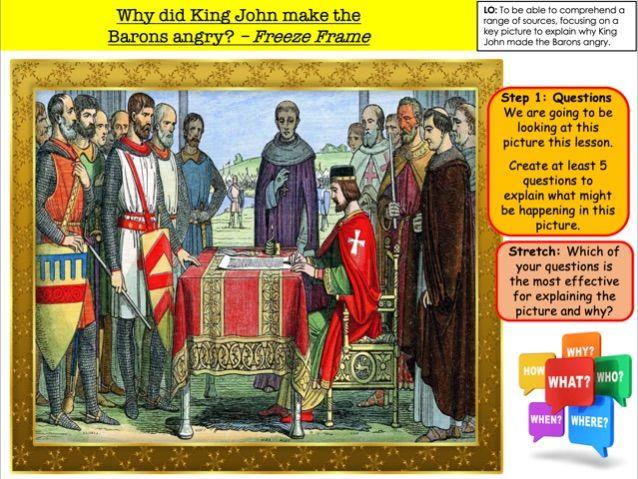 Why did King John make the  Barons angry? – Freeze Frame