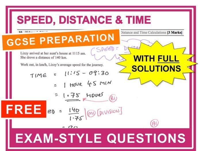 GCSE 9-1 Exam Question Practice (Speed)