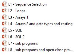 2.2 Programming Techniques (full lesson set - 8 lessons)
