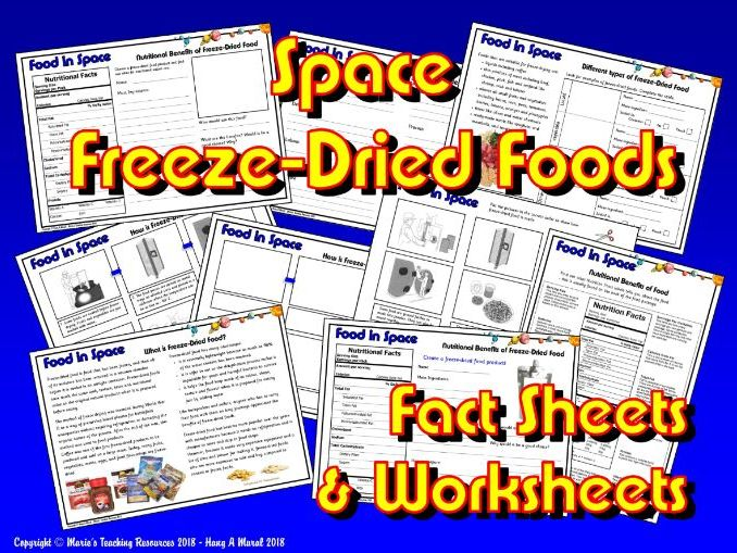 Food in Space / KS1&2 / Freeze-Dried Foods