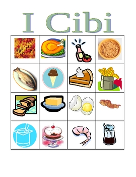 Cibi (Food in Italian) Bingo
