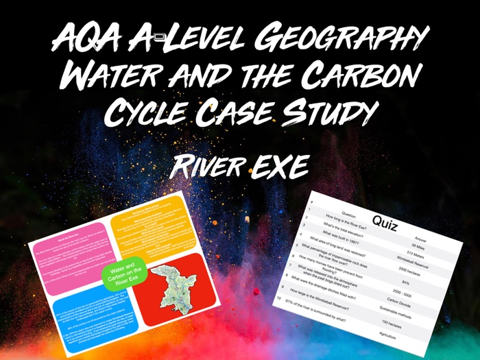 AQA A-Level Geography Water and the Carbon Cycle River Exe Case Study with Quiz