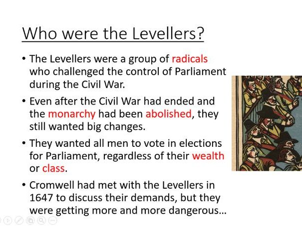 Cromwell and the Levellers (KS3, Year 8)